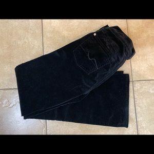 7 For All Mankind Sz 28 Black Velvet Stretch Pant